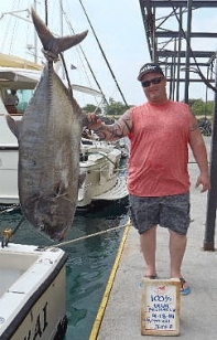 Biggest GT, ulua in Kona