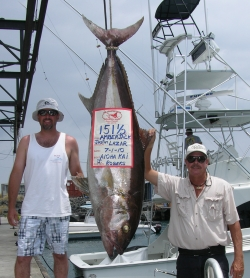 Hawaii state record amberjack