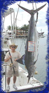 186 lb. striped marlin stood as the biggest striped marlin caught for over a decade